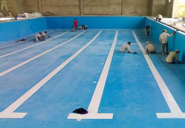 Chống thấm bể bơi dưới mặt đất