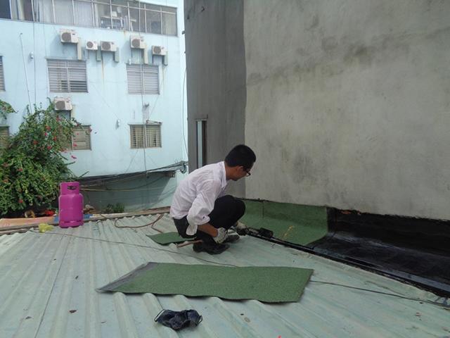 Máng xả nước giúp chống thấm tường nhà