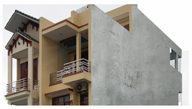 Thấm tường làm mất tính thẩm mỹ của công trình