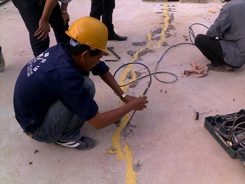 xử lý vết nứt bê tông