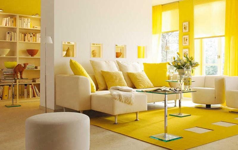 Sơn nhà màu vàng 2