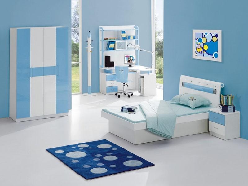 Sơn nhà màu xanh dương 2