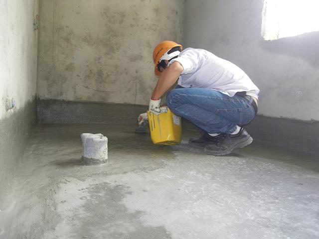 Quét toàn bộ tường và sàn