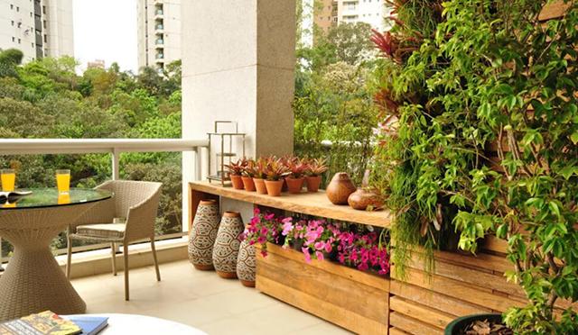 Tạo vườn cây nhỏ trên sân thượng với không gian nhỏ